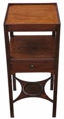 Antique George III C1800 mahogany washstand bedside table Georgian