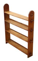 Antique oak open peg jointed bookcase Art Nouveau C1900