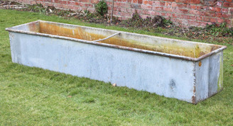 Antique reclaimed large huge galvanised steel planter water feeder