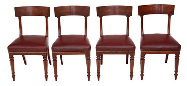 Antique quality set of 4 Regency / William IV mahogany dining chairs