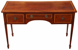 Antique top quality 19th Century inlaid mahogany desk or writing table