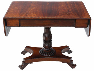 Antique quality Regency rosewood pedestal sofa table C1825-35