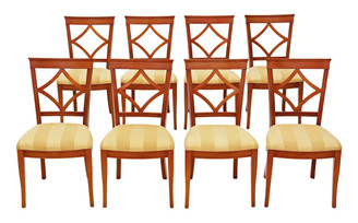 Antique quality set of 8 Bradley dining chairs 19th Century reproduction