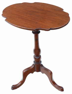 Antique quality Victorian C1850 mahogany tilt top supper table side wine