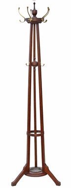 Antique quality Victorian oak hall, coat or hat stand C1920