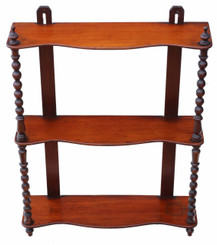 Antique quality late Victorian mahogany open bookcase C1870