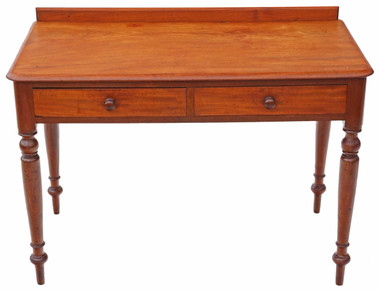 Antique Victorian C1880 mahogany desk or writing table