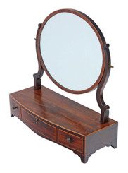 Antique Georgian mahogany dressing table swing mirror toilet C1800-1820