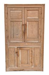 Antique quality Georgian C1800 and later pine corner cupboard