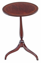 Antique quality Victorian inlaid mahogany wine table side occasional