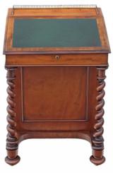 Antique quality William IV / Victorian walnut davenport writing table desk