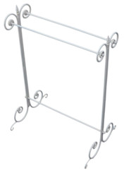 Antique Gothic steel wrought iron towel rail stand early 20C