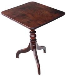 Antique Georgian mahogany tilt top supper tea occasional lamp table