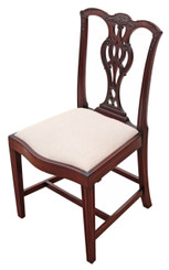 Antique quality Georgian Chippendale mahogany dining chair
