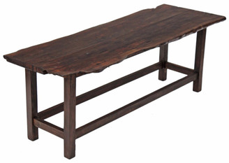 Antique large rustic oak mahogany walnut coffee side occasional table 5'