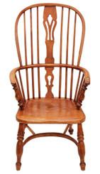 Antique ash elm Windsor armchair carver hall side dining chair