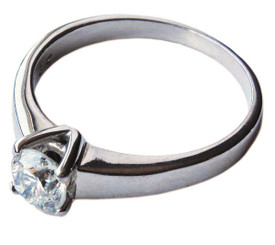 18ct white gold diamond solitaire engagement ring 0.65ct