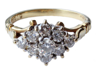 18ct gold diamond cluster ring 0.80ct