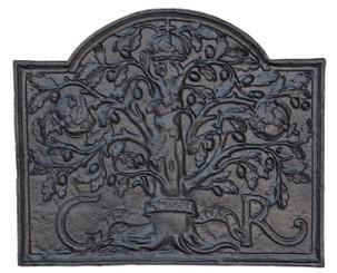 Antique large cast iron fire back
