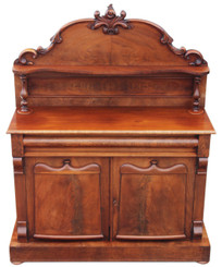 Antique Victorian flame mahogany sideboard chiffonier dresser