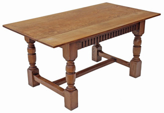 Antique quality oak refectory dining table kitchen Gothic