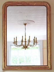 Antique large quality Victorian 19C gilt wall mirror overmantle