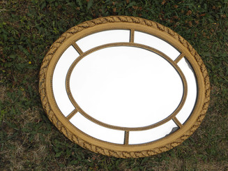 Antique gold old wooden framed mirror gilt gesso
