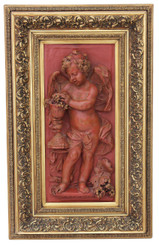 Antique large relief sculpture statue work of art angel plaque