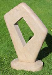 Large stonemason made modern art limestone garden sculpture