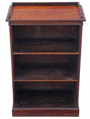Antique small Victorian C1880 mahogany open bookcase