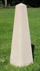 Large stonemason made obelisk limestone garden sculpture
