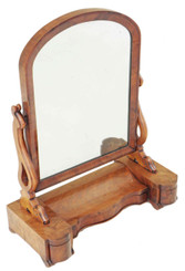Antique large Victorian mahogany bedroom swing mirror