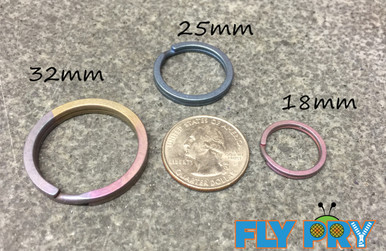 The 3 Pack includes one of each size in your choice of colors: Natural, Blue, Green, Purple, Gold, or Bronze (You get one each of: 32mm, 25mm, 18mm)