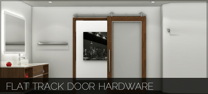 Flat Track Door Hardware
