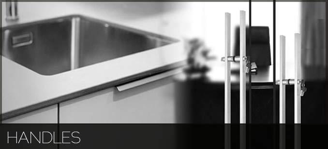 Door handles on glass door