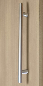 Pro-Line Series:  Ladder Pull Handle - Back-to-Back, Brushed Satin US32D/630 Finish,  316 Marine Grade Stainless Steel Alloy