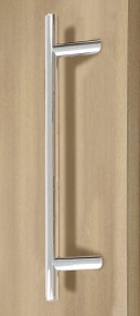 45º Offset Ladder Pull Handle - Back-to-Back (Polished Stainless Steel Finish)