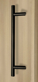 45º Offset Ladder Pull Handle - Back-to-Back (Black Powder Stainless Steel Finish)