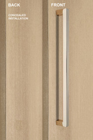 """One Sided 1"""" x 1"""" Square Pull Handle with Concealed Fixing (Polished Stainless Steel Finish)"""