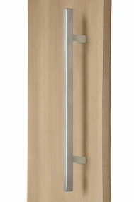 "1"" x 1"" Square Ladder Pull Handle - Back-to-Back (Brushed Satin Stainless Steel Finish)"