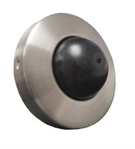 Convex Wall Mounted Door Stop - Brushed Satin Stainless Steel