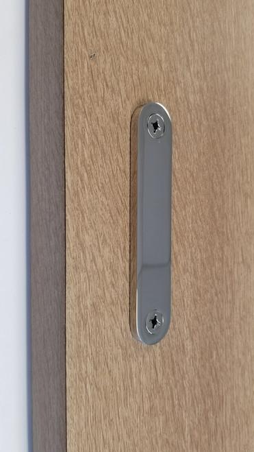 Low Profile Modern Stainless Steel Barn Door Handles Polished