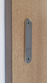 Low Profile Back-to-Back Stainless Steel Barn Door Handles  (Polished Stainless Steel Finish)
