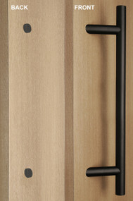 One Sided 45º Offset Ladder Pull Handle with Decorative Fixing (Black Powder Stainless Steel Finish)
