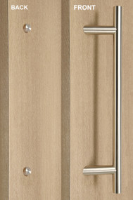 One Sided 45º Offset Ladder Pull Handle with Decorative Fixing (Brushed Satin Stainless Steel Finish)
