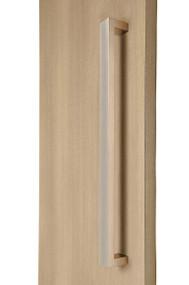 "1.5"" x 1"" Rectangular Pull Handle - Back-to-Back (Brushed Satin Stainless Steel Finish)"