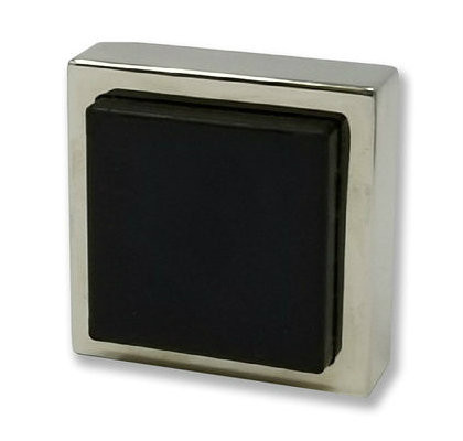 Square Wall Mounted Door Stop 05   Polished Stainless Steel