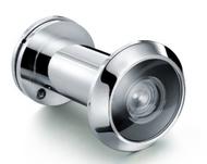"180˚ Glass Lens Door Viewer For Doors 1-3/8"" to 2-1/4"" - Matte Chrome"
