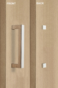 Barn Door Pull Square Door Handle Set with Decorative Fixings  (Polished Stainless Steel Finish)
