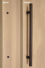 One Sided Ladder Pull Handle with Decorative Fixing (Bronze Stainless Steel Finish)